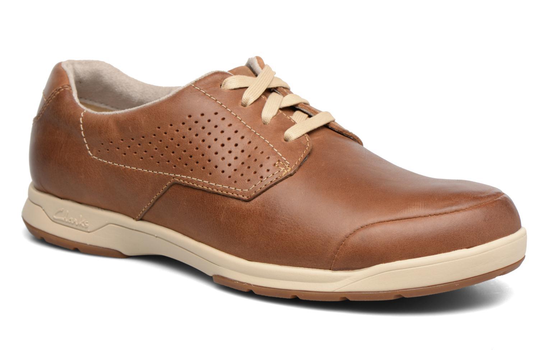 Chaussures à lacets Clarks Stafford Plan Marron vue détail/paire