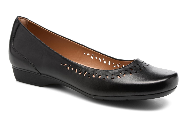 Clarks Blanche Garyn (Noir) - Ballerines en Más cómodo Chaussures femme pas cher homme et femme