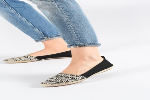 Espadrilles Clarks Clovelly Sun Black view from underneath / model view