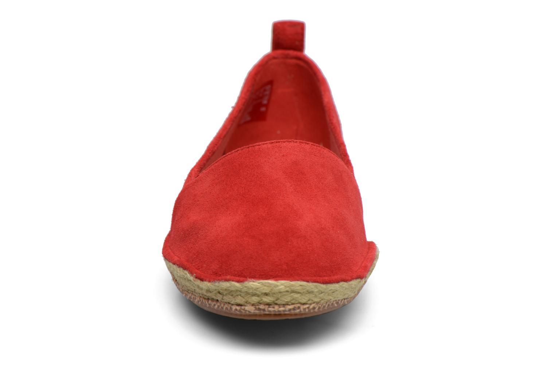 Espadrilles Clarks Clovelly Sun Rouge vue portées chaussures