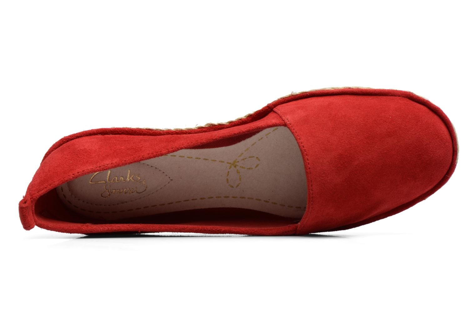 Espadrilles Clarks Clovelly Sun Red view from the left