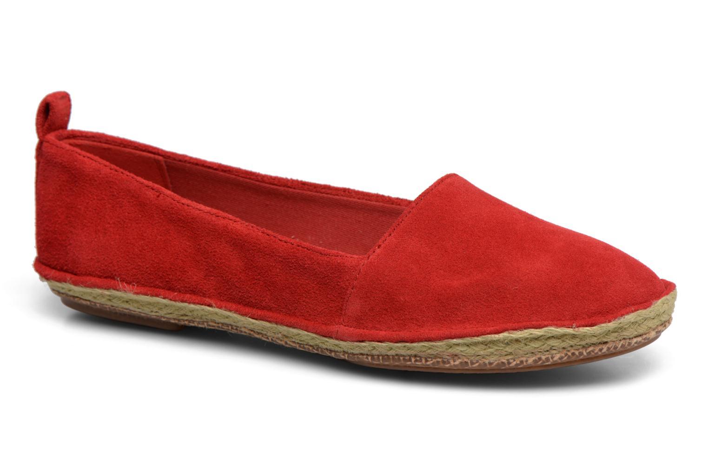Espadrilles Clarks Clovelly Sun Rouge vue détail/paire