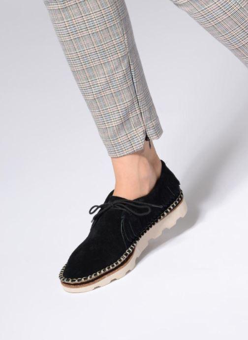 Zapatos con cordones Clarks Damara Thrill Negro vista de abajo