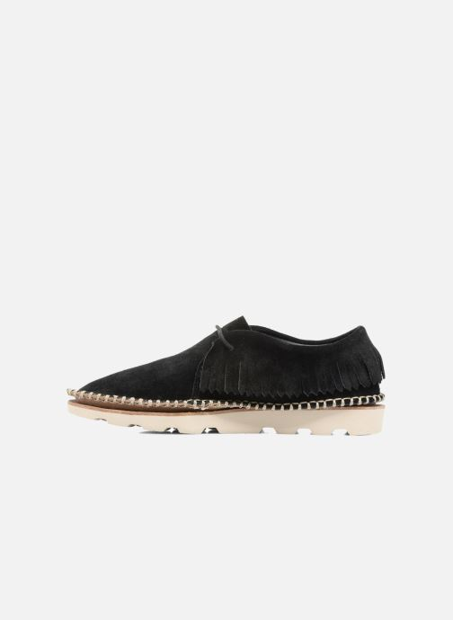 Zapatos con cordones Clarks Damara Thrill Negro vista de frente