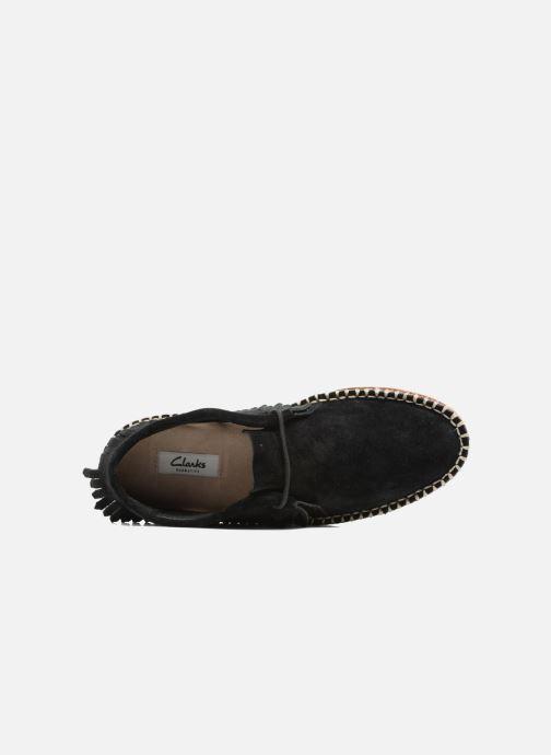 Zapatos con cordones Clarks Damara Thrill Negro vista lateral izquierda