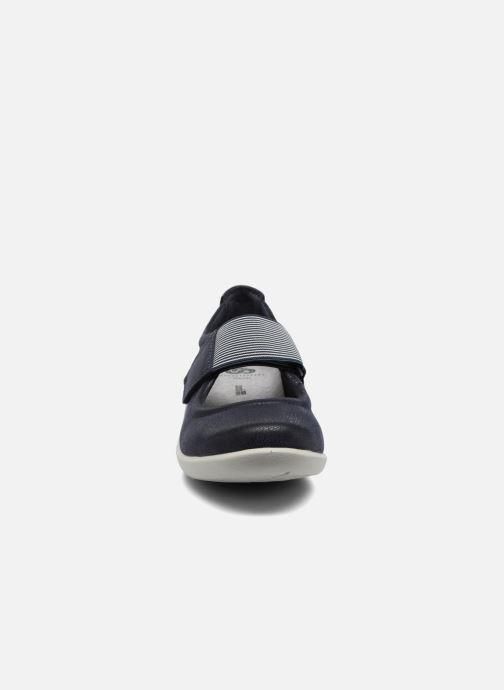 Ballerines Clarks Sillian Cala Bleu vue portées chaussures