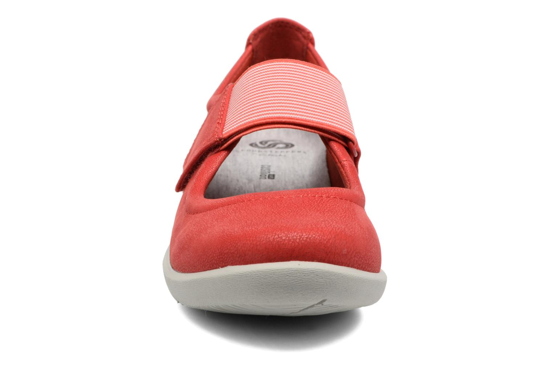 Ballerines Clarks Sillian Cala Rouge vue portées chaussures