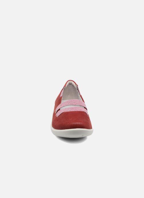 Ballerines Clarks Sillian Rest Rouge vue portées chaussures