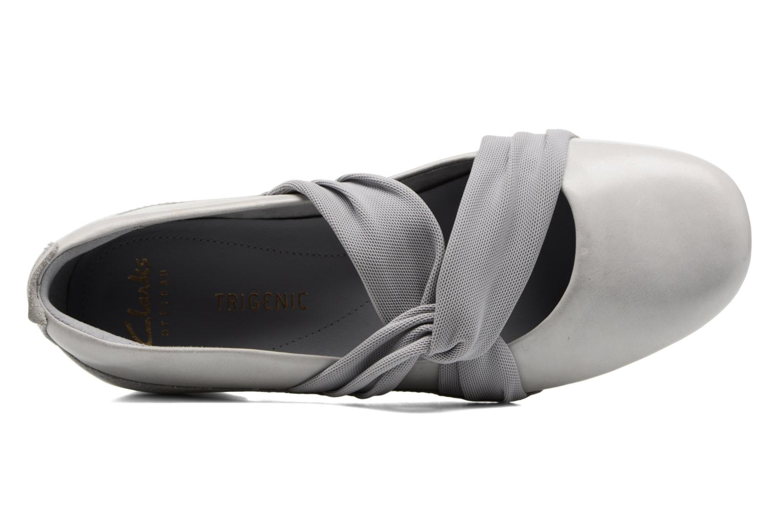 Ballet pumps Clarks Tri Accord Grey view from the left
