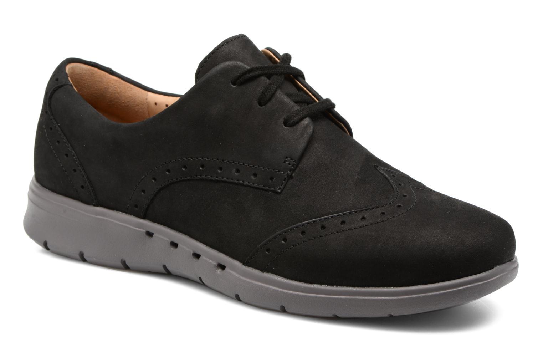 Zapatos con cordones Clarks Un Hinton Negro vista de detalle / par