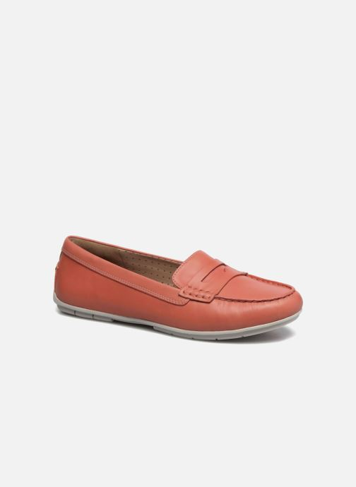 Mocassins Clarks Un Terra Orange vue détail/paire