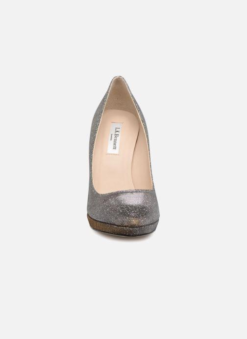 Escarpins L.K. Bennett New Sledge Or et bronze vue portées chaussures