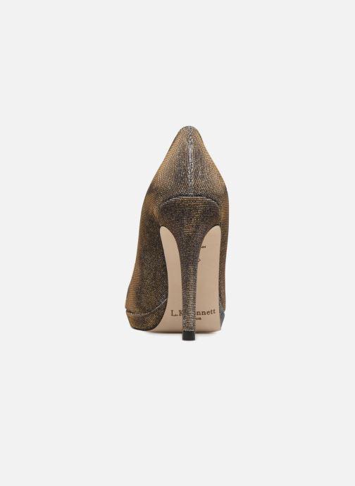 Escarpins L.K. Bennett New Sledge Or et bronze vue droite