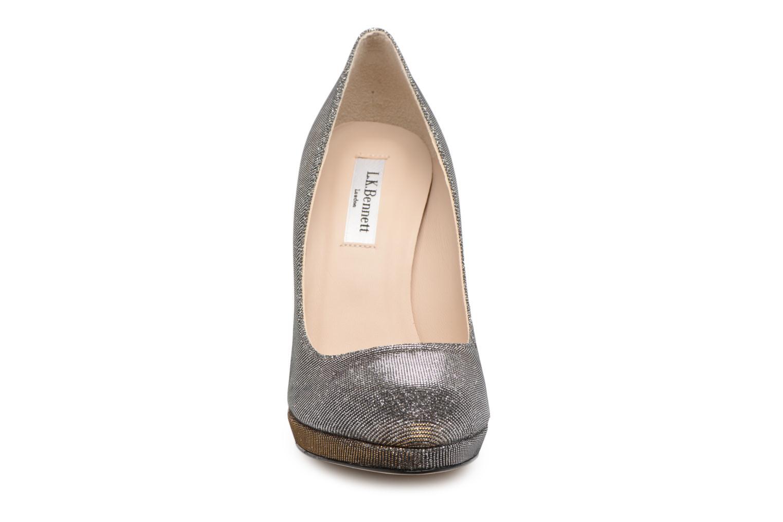 High heels L.K. Bennett New Sledge Bronze and Gold model view