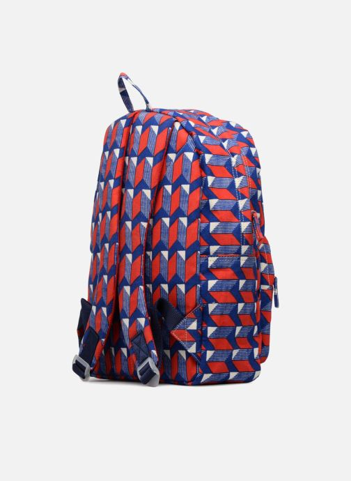 School bags Bakker Made With Love BACKPACK GRAND CANVAS Red view from the right