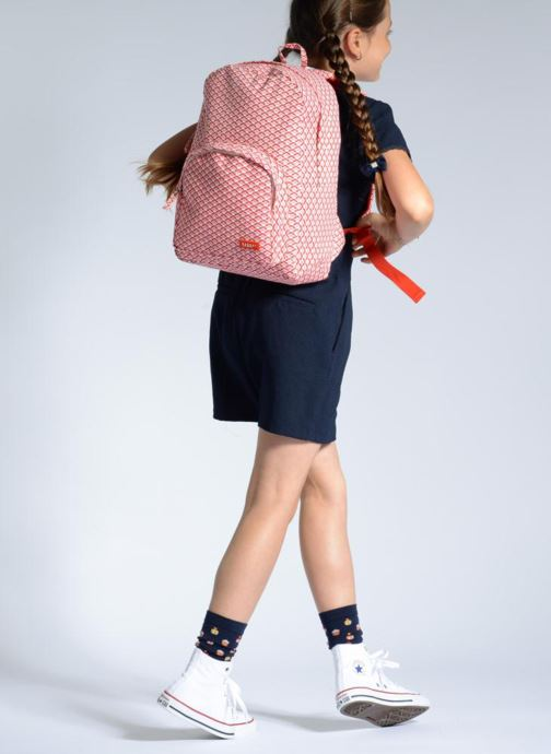 Schulzubehör Bakker Made With Love BACKPACK GRAND rosa ansicht von unten / tasche getragen