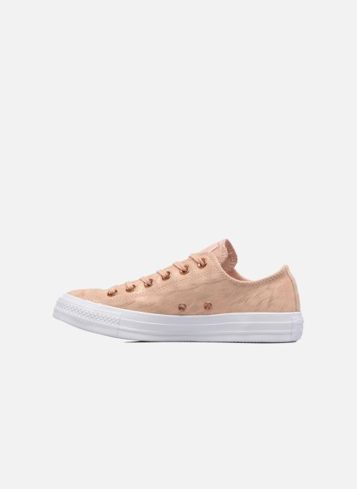 Sneakers Converse Chuck Taylor All Star Shimmer Suede Ox Rosa immagine frontale