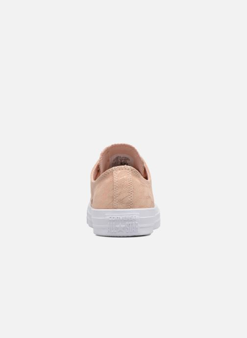Baskets Converse Chuck Taylor All Star Shimmer Suede Ox Rose vue droite