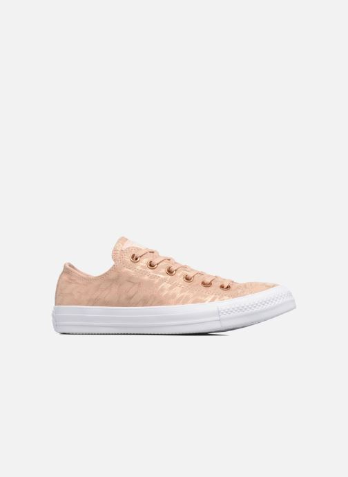 Sneakers Converse Chuck Taylor All Star Shimmer Suede Ox Rosa immagine posteriore