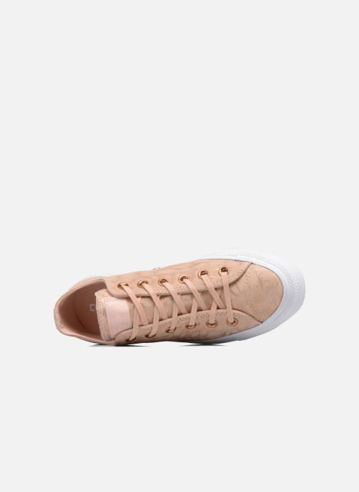 Sneakers Converse Chuck Taylor All Star Shimmer Suede Ox Rosa immagine sinistra