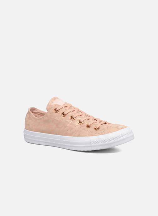 Trainers Converse Chuck Taylor All Star Shimmer Suede Ox Pink detailed view/ Pair view