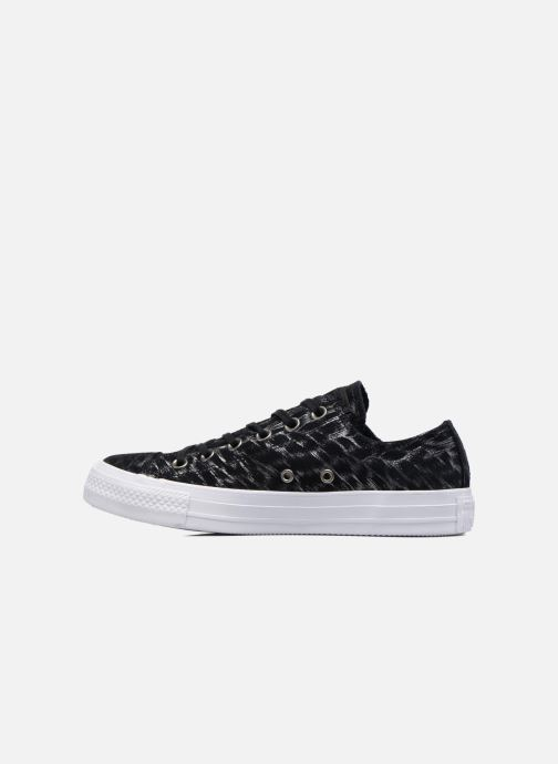 Sneakers Converse Chuck Taylor All Star Shimmer Suede Ox Nero immagine frontale
