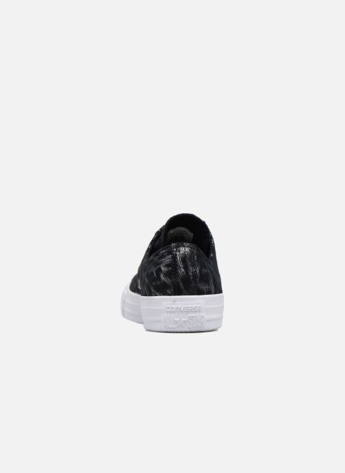 Baskets Converse Chuck Taylor All Star Shimmer Suede Ox Noir vue droite
