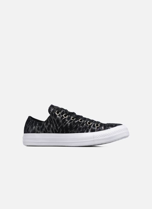Deportivas Converse Chuck Taylor All Star Shimmer Suede Ox Negro vistra trasera
