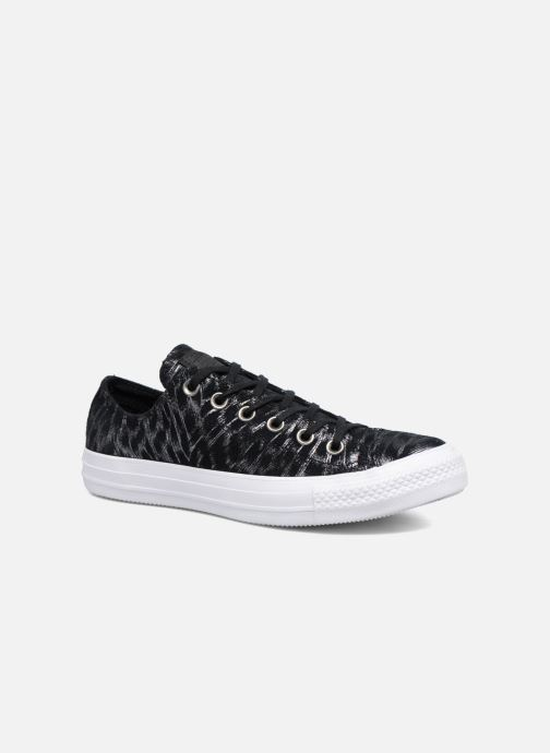 Trainers Converse Chuck Taylor All Star Shimmer Suede Ox Black detailed view/ Pair view