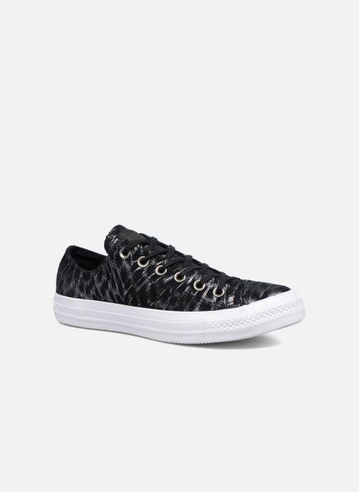 Sneaker Converse Chuck Taylor All Star Shimmer Suede Ox schwarz detaillierte ansicht/modell