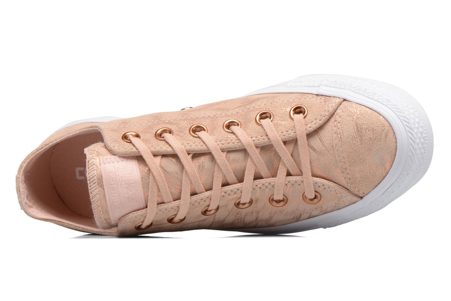 Baskets Converse Chuck Taylor All Star Shimmer Suede Ox Rose vue gauche