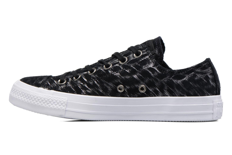 Sneaker Converse Chuck Taylor All Star Shimmer Suede Ox schwarz ansicht von vorne