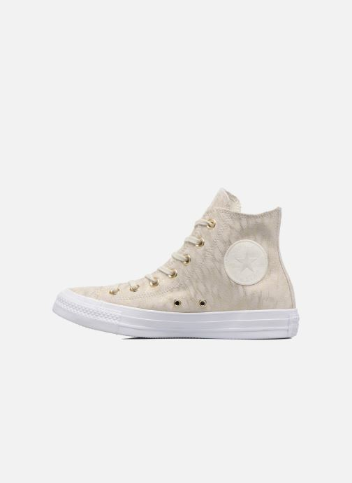 Sneakers Converse Chuck Taylor All Star Shimmer Suede Hi Beige immagine frontale