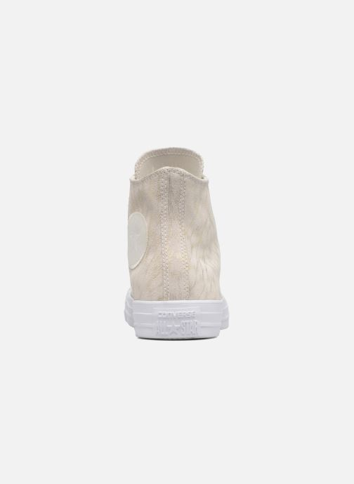 Sneakers Converse Chuck Taylor All Star Shimmer Suede Hi Beige immagine destra