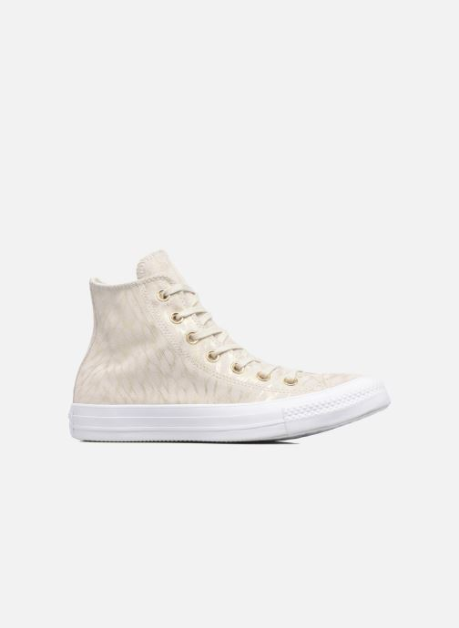 Sneakers Converse Chuck Taylor All Star Shimmer Suede Hi Beige immagine posteriore