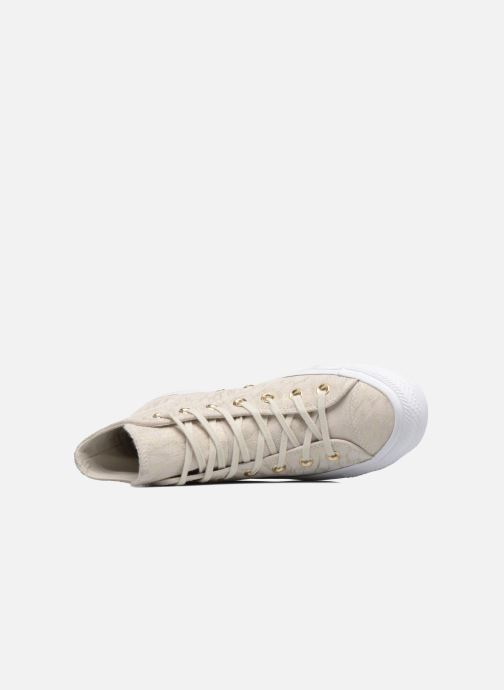 Sneakers Converse Chuck Taylor All Star Shimmer Suede Hi Beige immagine sinistra