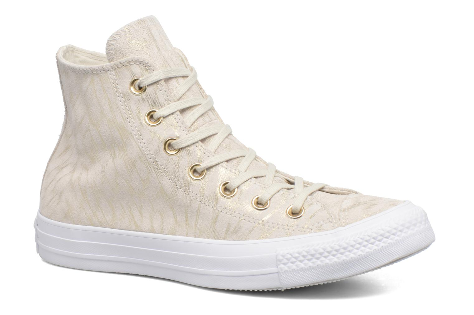 Sneakers Converse Chuck Taylor All Star Shimmer Suede Hi Beige detail