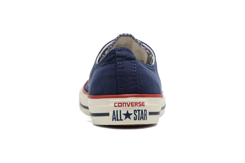 Baskets Converse Chuck Taylor All Star Ombre Wash Ox W Bleu vue derrière