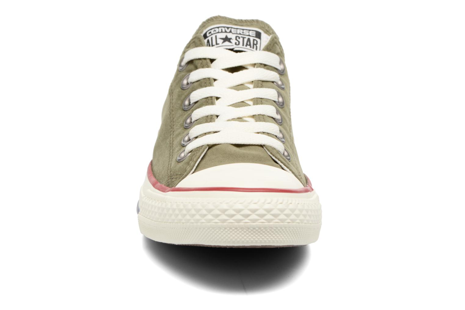 Baskets Converse Chuck Taylor All Star Ombre Wash Ox Vert vue portées chaussures