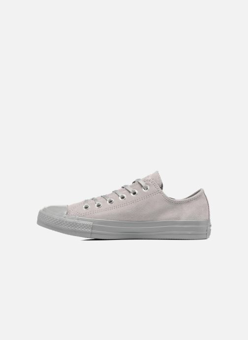 Baskets Converse Chuck Taylor All Star Mono Plush Suede Ox Gris vue face