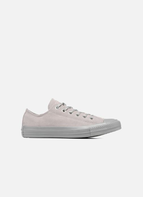 Sneakers Converse Chuck Taylor All Star Mono Plush Suede Ox Grijs achterkant