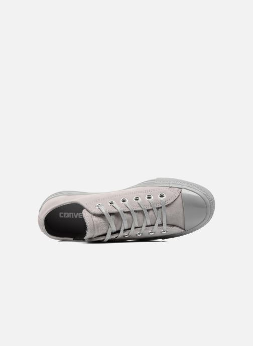 Trainers Converse Chuck Taylor All Star Mono Plush Suede Ox Grey view from the left