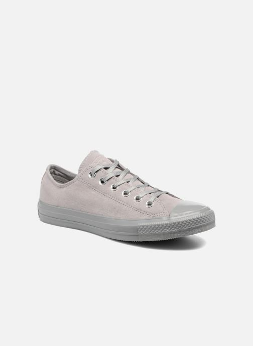 8e63f28d1158 Trainers Converse Chuck Taylor All Star Mono Plush Suede Ox Grey detailed  view  Pair view