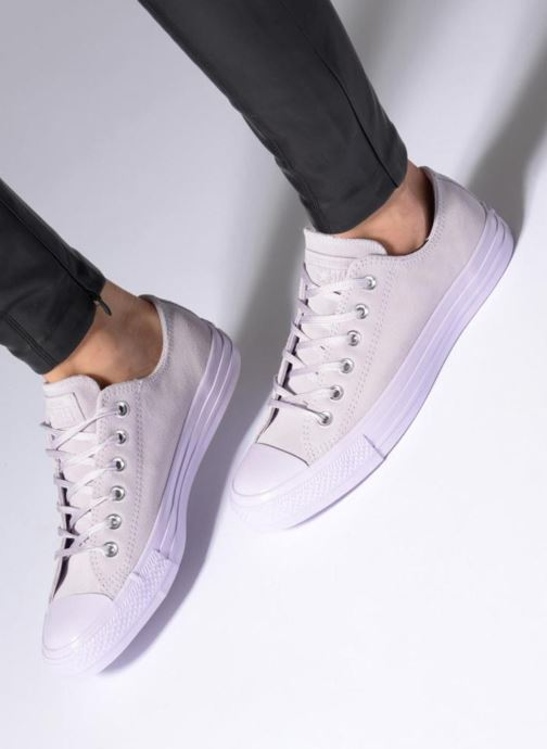 Sneakers Converse Chuck Taylor All Star Mono Plush Suede Ox Viola immagine dal basso