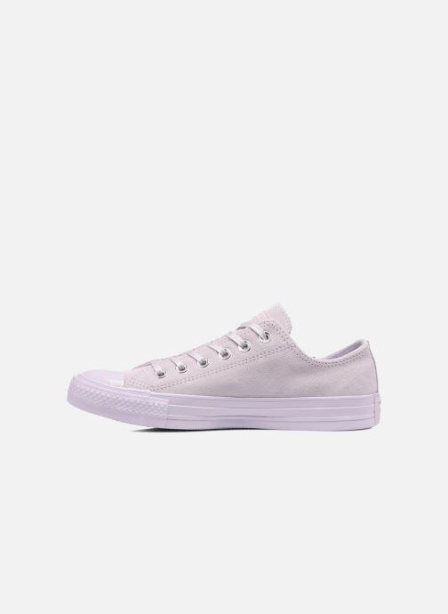 Sneakers Converse Chuck Taylor All Star Mono Plush Suede Ox Paars voorkant