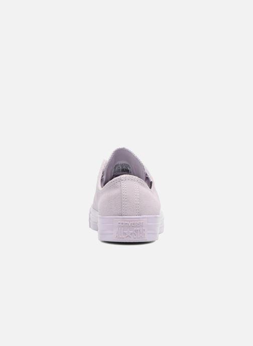 Sneakers Converse Chuck Taylor All Star Mono Plush Suede Ox Viola immagine destra