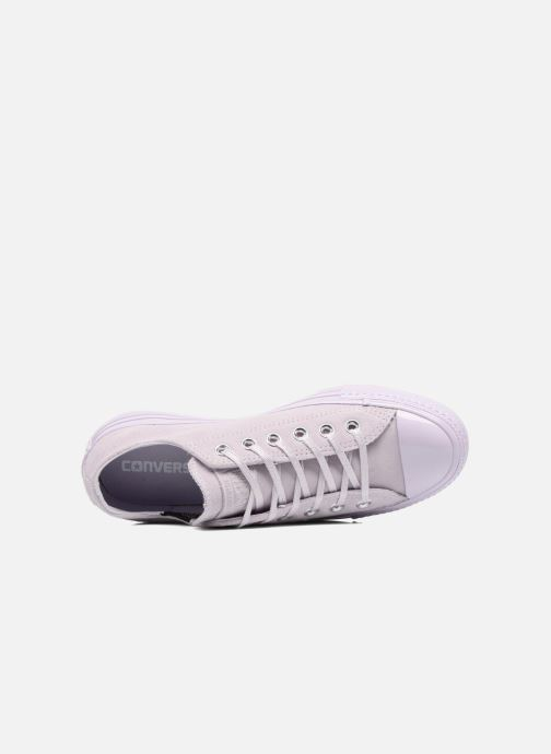 Sneakers Converse Chuck Taylor All Star Mono Plush Suede Ox Viola immagine sinistra