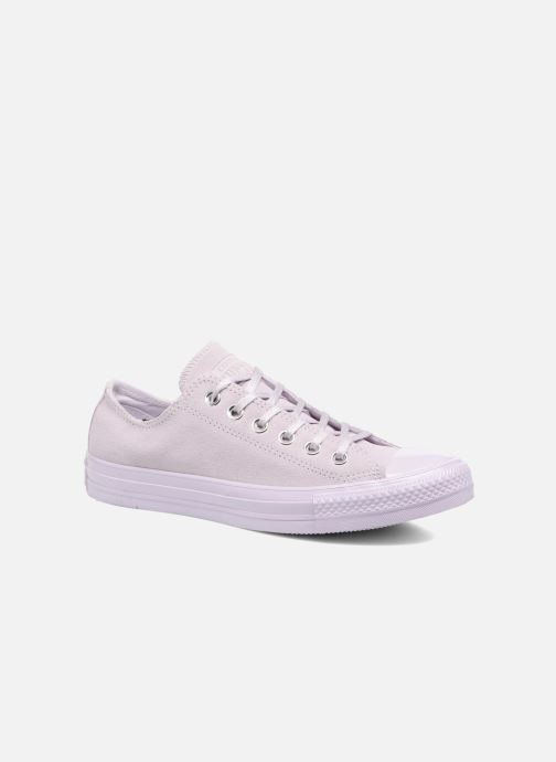 Baskets Converse Chuck Taylor All Star Mono Plush Suede Ox Violet vue détail/paire