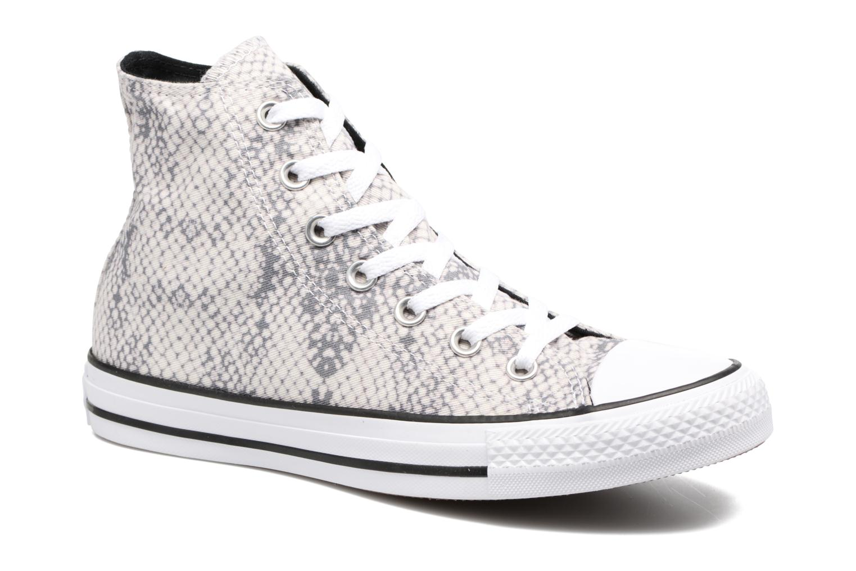 Baskets Converse Chuck Taylor All Star Lurex Snake Hi Blanc vue détail/paire