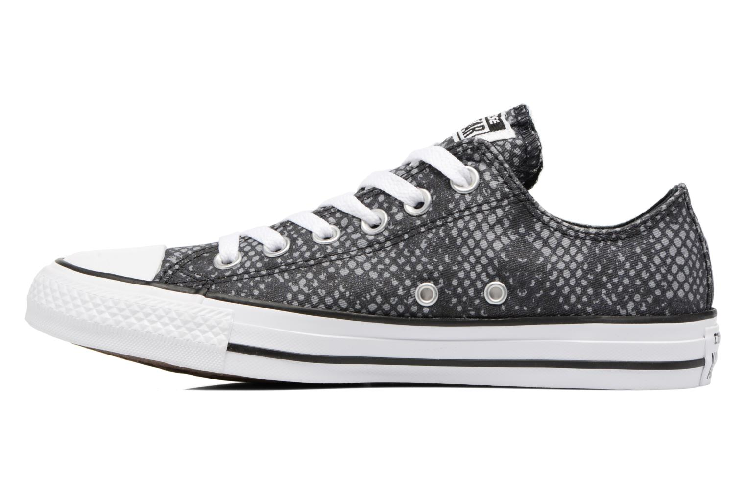 Baskets Converse Chuck Taylor All Star Lurex Snake Ox Gris vue face
